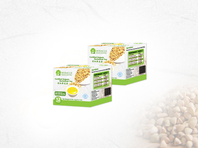 Organic Buckwheat Tea Box Packaging