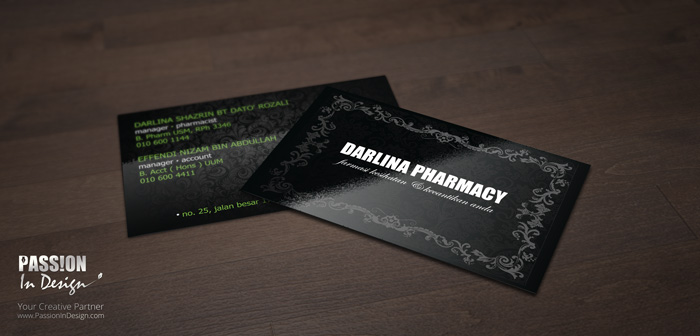 Business Card Printing & Delivery 名片设计影印及送货 - Darlina Pharmacy
