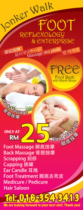 Creative Foot Reflexology Banner Design