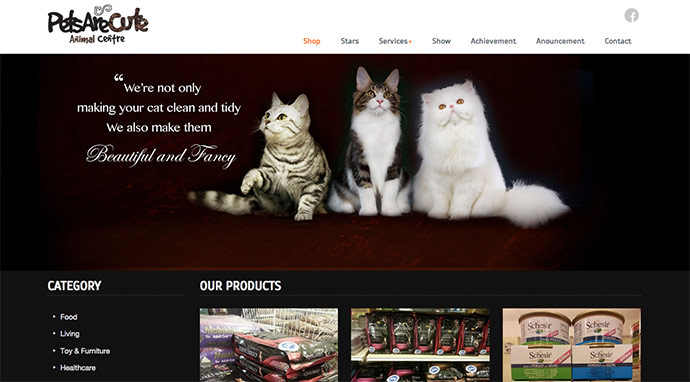 Pets Are Cute Website Design