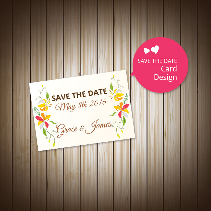 SAVE THE DATE Card Design 婚礼卡设计