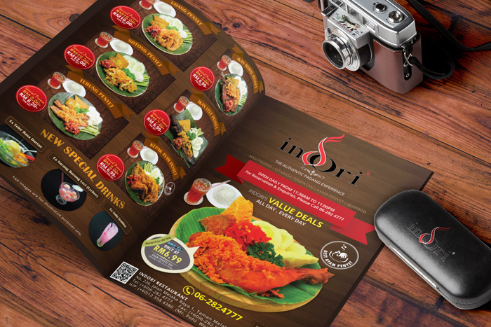 Indori Restaurant Leaflet Menu
