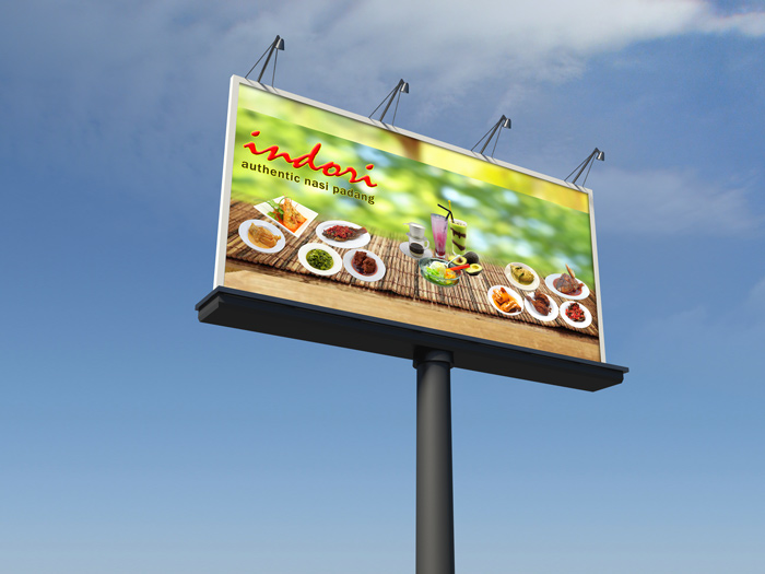 Indori Restaurant Signage & Sticker Design