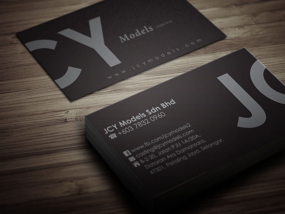 Business Card Printing & Delivery 名片设计影印及送货 – JCY Models (Petaling Jaya)