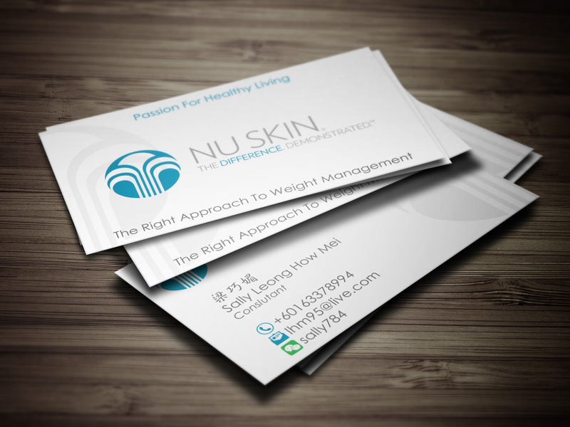 Business Card Printing & Delivery 名片设计影印及送货 – NuSkin