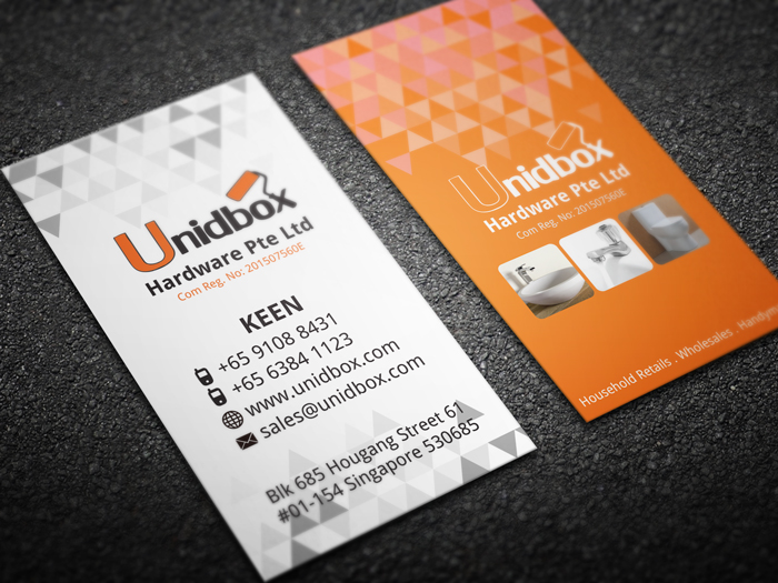 Unidbox Name Card Design - Front & Back