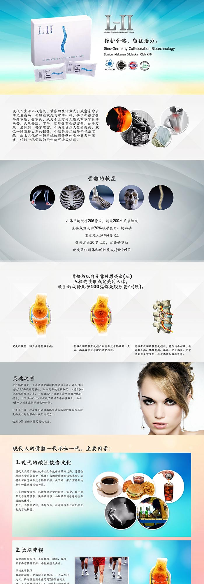 L-II Product Webpage Design (Chinese)