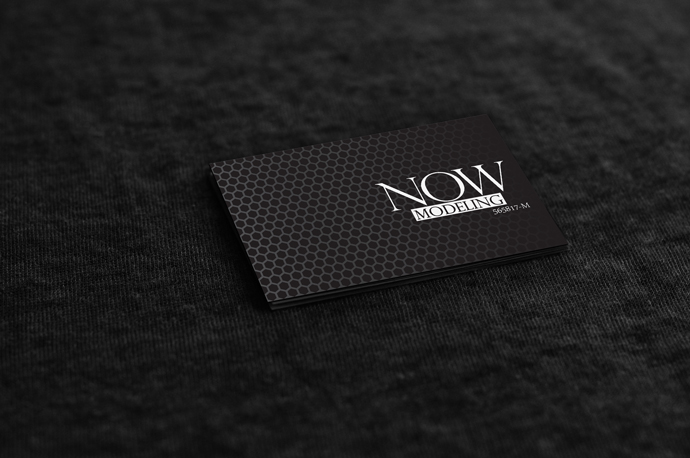 Edgy Classic Name Card Design for Now Modeling
