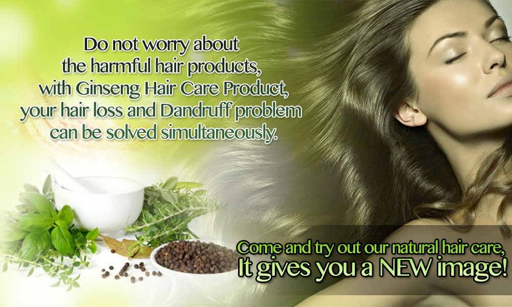 Ginseng Hair Care Product Banner - English