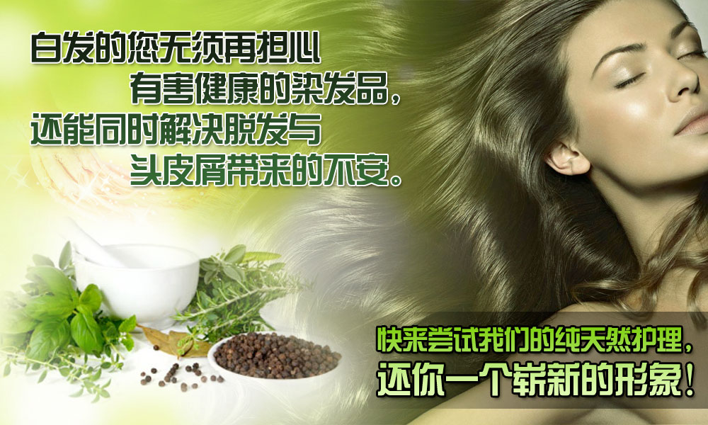 Ginseng Hair Care Product Banner - Chinese