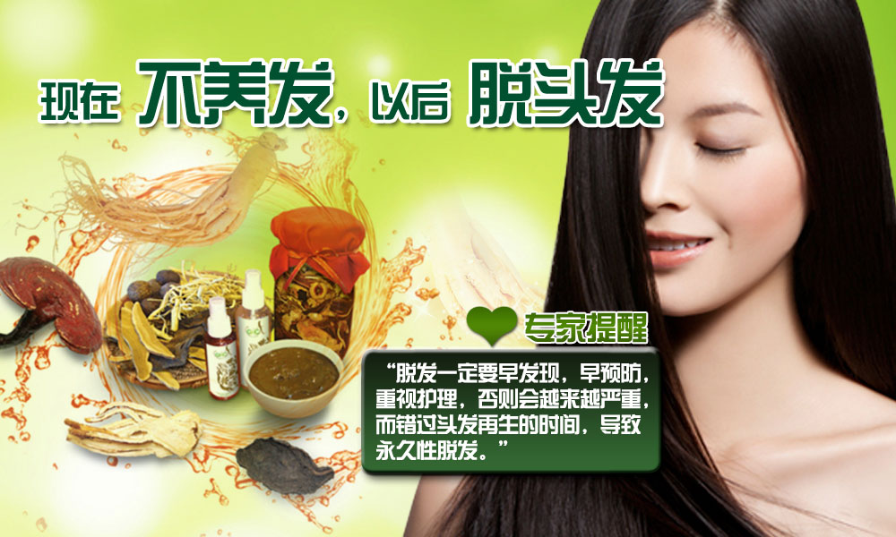 Ginseng Hair Care Chinese Banner