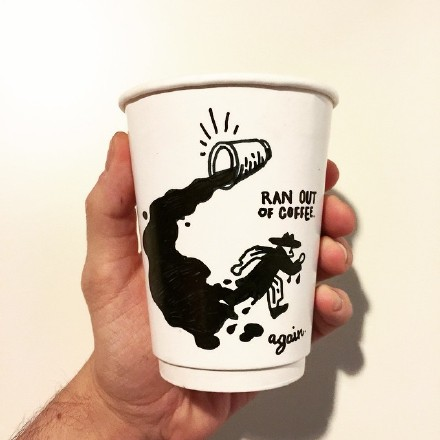 Coffee Cup Drawing Design